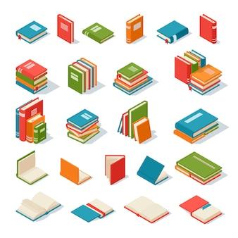 Książki na białym tle.