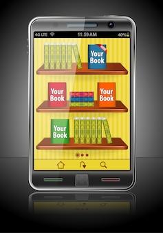 Książki na smartfonie