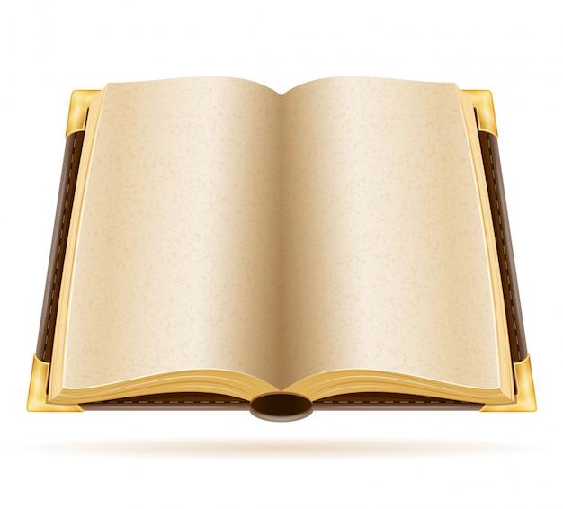 Książkowa stara retro rocznika wektoru ilustracja