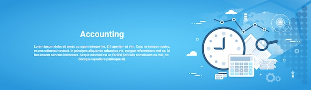 Księgowość audyt firmy web poziomy baner z miejsca kopiowania