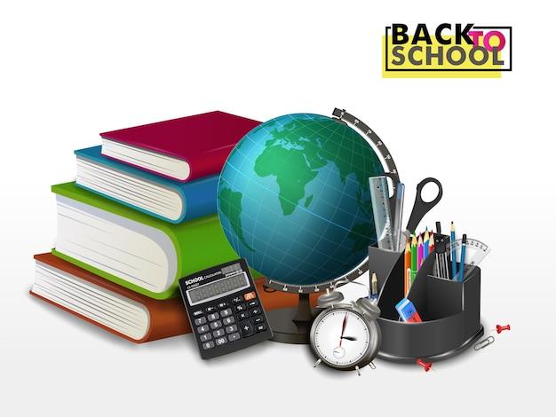 Księgozbiór, klub książki, powrót do szkoły, stos książek