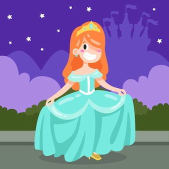 Księżniczka kopciuszek w nocy
