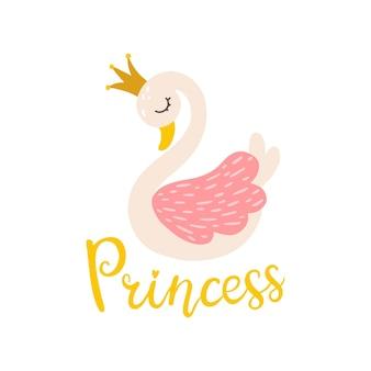 Księżniczka łabędzi z koroną
