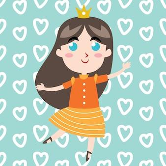 Księżniczka pin up plakat i projekt okładki książki