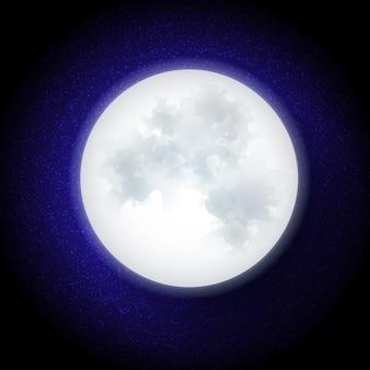 Księżyc w stylu płaskiej konstrukcji. ilustracja