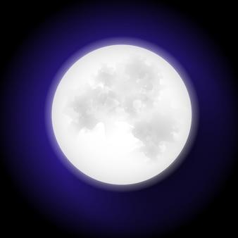 Księżyc w stylu płaskiej konstrukcji.