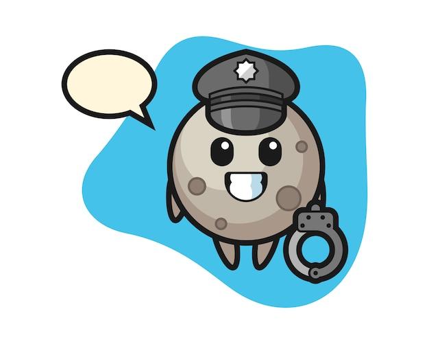 Księżycowa kreskówka jako policja
