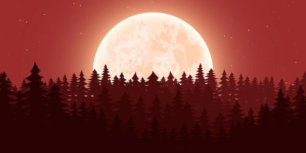 Księżycowy krajobraz przyrody