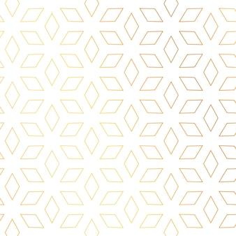 Kształt diamentu złoty wzór tło wektor