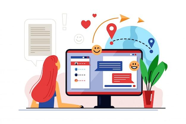 Kształcenie na odległość. szkolenie online i nauczanie na odległość w zakresie technologii edukacji cyfrowej.