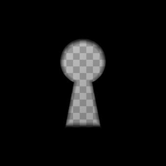 Kształt dziurki od klucza na przezroczystym
