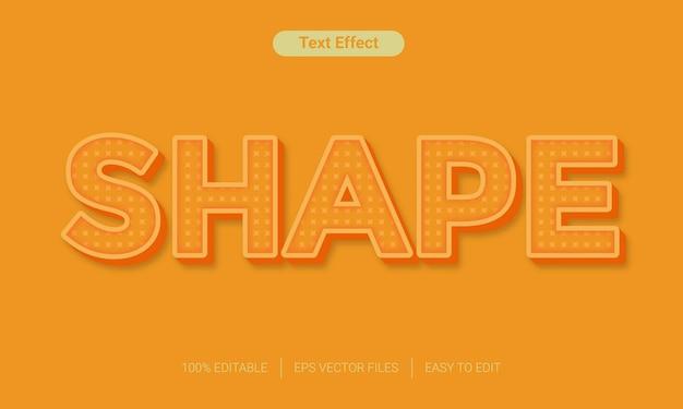 Kształt efektu stylu tekstu w kolorze pomarańczowym