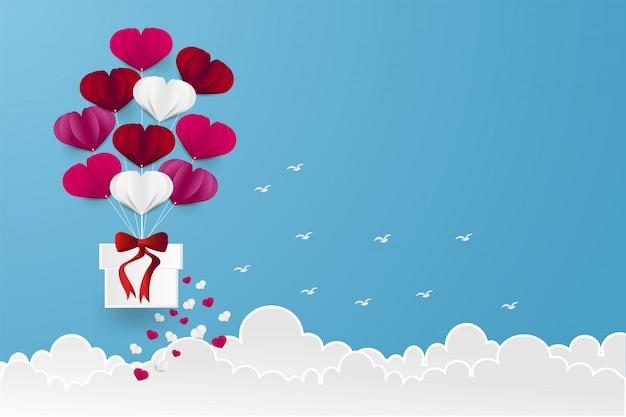 Kształt serca balonowego