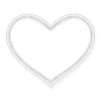Kształt serca ramki na zdjęcia.