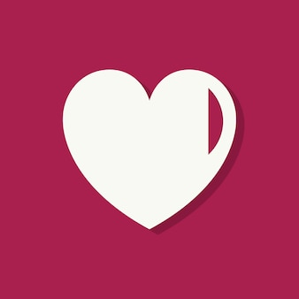 Kształt serca walentynki ikona