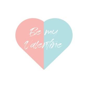 Kształt serca z typograficznym napisem w środku idealny na romantyczne życzenia walentynkowe wektor