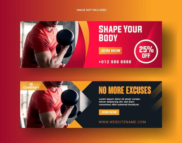 Kształtuj baner fitness i post w mediach społecznościowych