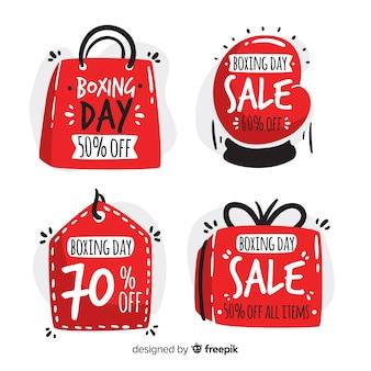 Kształty boks dzień odznaka kolekcji