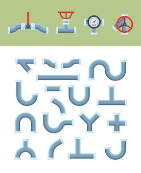 Kształty rur z instalacjami wodno-kanalizacyjnymi przeciwzaworowymi