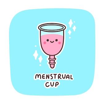 Kubek menstruacyjny ładny charakter kawaii