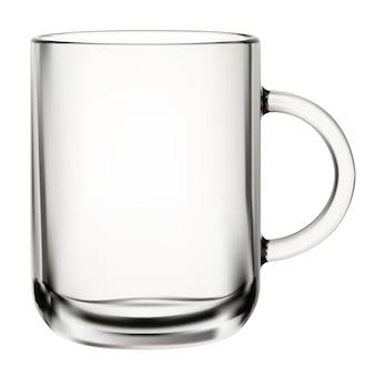 Kubek szklany. przezroczysta filiżanka do kawy, szkło