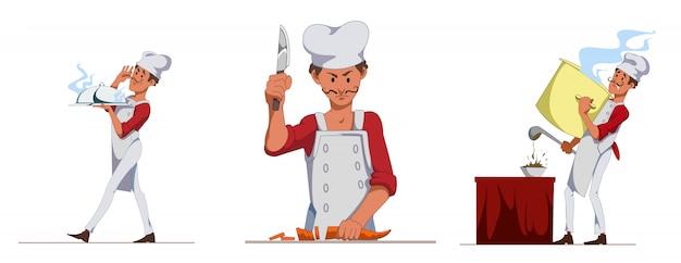 Kucharz lub kucharz w restauracji