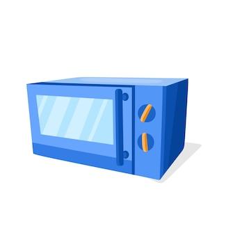 Kuchenka mikrofalowa w stylu kreskówki ilustracja wektorowa urządzenia kuchennego