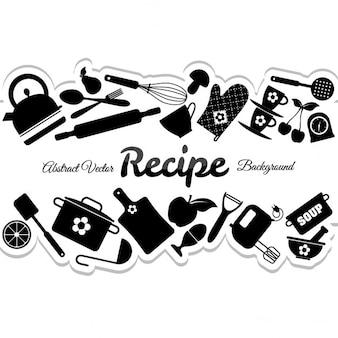 Kuchnia streszczenie ilustracji tle
