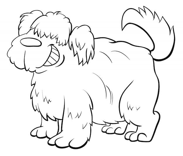 Kudłaty owca pies postać kolorowanka