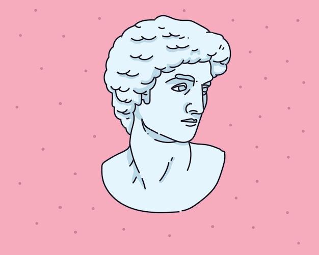 Kukiełkowa statua ręcznie rysowane ilustracji