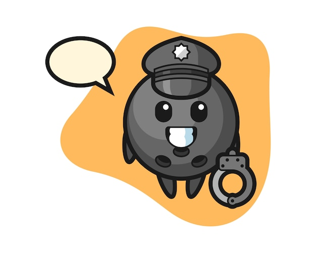 Kula do kręgli jako policja