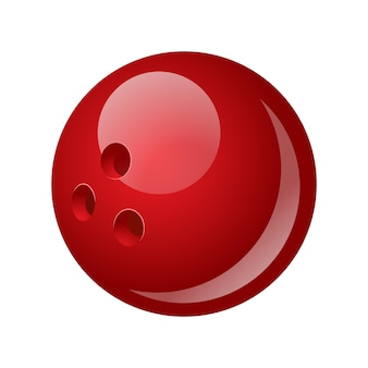 Kula do kręgli - nowoczesny wektor realistyczny na białym tle obiekt na białym tle. gra, koncepcja sportu. użyj tej wysokiej jakości grafiki do prezentacji, banerów, ulotek