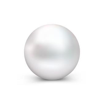Kula perłowa na białym tle