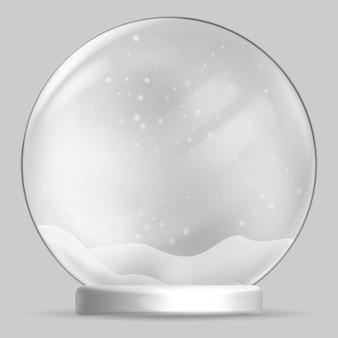 Kula śniegu na przezroczystym tle. ilustracja.