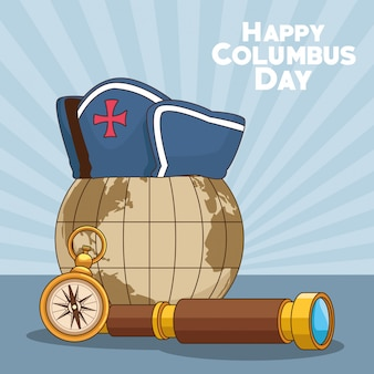 Kula ziemska i projekt happy columbus day