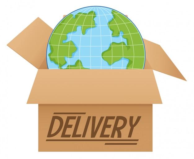 Kula ziemska w dostawie pudełkowej