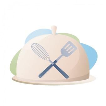 Kulinarna koncepcja ilustracja restauracja biznes