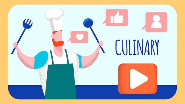 Kulinarny internetowy blog wideo