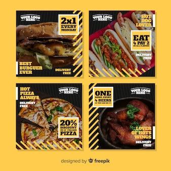 Kulinarny post na instagramie z obrazem