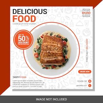 Kulinarny szablon mediów społecznościowych