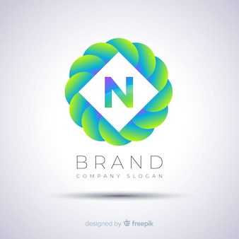 Kuliste logo streszczenie szablon gradientu