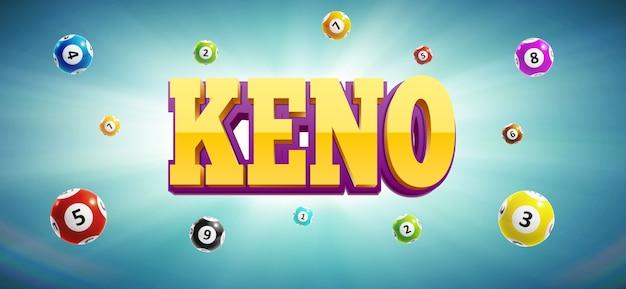 Kulki loterii keno i miejsce na tekst