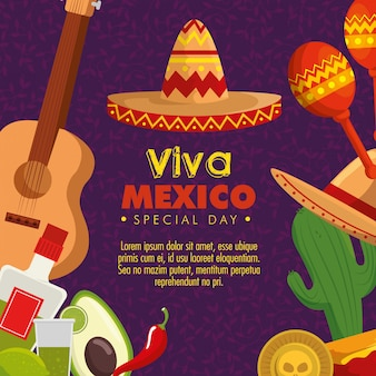 Kultura meksyku z tradycyjną dekoracją