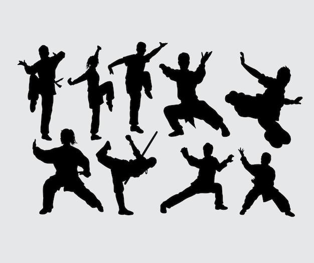 Kung fu sztuki walki sporta gesta sylwetka