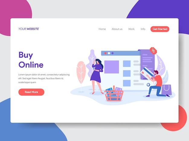 Kup online ilustracja do strony internetowej