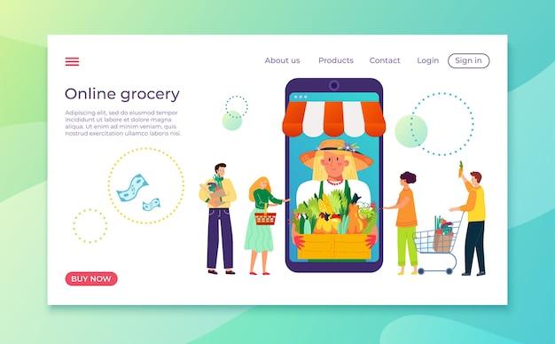 Kup produkt w sklepie sklep internetowy ilustracja usługi
