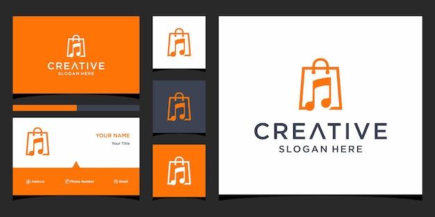 Kup projekt logo muzyki z szablonem wizytówki