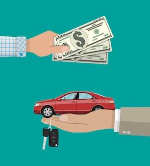 Kup, wynajmij lub wynajmij koncepcję samochodu