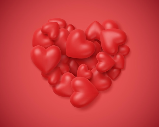 Kupie czerwone serce w ramce kształt serca na czerwonym tle