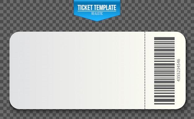 Kupony na zaproszenia z pustym szablonem biletu.